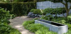 Raised concrete trough