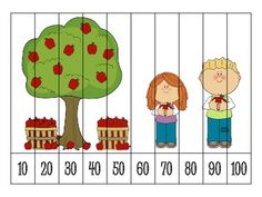 9 Autumn Number Order Puzzles {FREEBIE} Numbers Preschool, Learning Numbers, Preschool Worksheets, Counting Puzzles, Number Puzzles, Skip Counting, Kindergarten Math, Teaching Math, Math Lab
