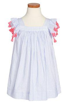 Nellystella 'Chloe' Flutter Sleeve Dress (Toddler Girls, Little Girls & Big Girls) available at #Nordstrom