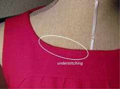 Understitching on a red dress on Craftsy!