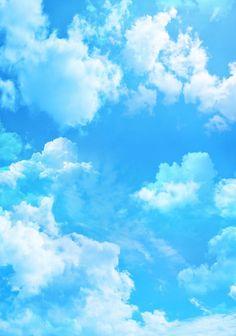 Ра… - голубое небо, Живописные облака..