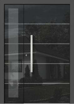 Holz-Alu Haustüren AVANTGARDE Main Entrance, House Entrance, Entrance Doors, Contemporary Front Doors, Modern Front Door, Pivot Doors, Internal Doors, Window Design, Door Design