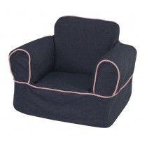 Denim Childrenu0027s Chair Slipcover
