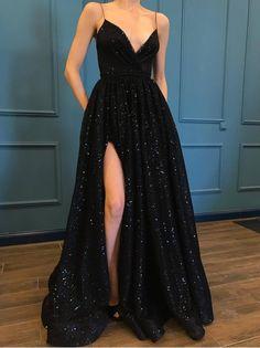 Black Lace Prom Dress, Black Prom Dress, Prom Dress Prom Dress For Cheap, Prom Dress Long Prom Dresses 2019 Prom Dresses With Pockets, Black Prom Dresses, Cheap Prom Dresses, Prom Party Dresses, Elegant Dresses, Dress Prom, Dress Black, Dress Long, Dresses Dresses