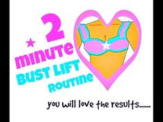 2 Minute Bust Lift Routine (naturally lift your bust with these exercises)