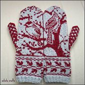 Siiliste's Woodland winter mittens, pattern by Kerin Dimeler-Laurence