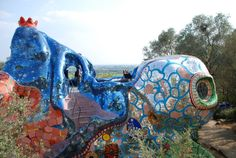 """catrinastewart: """" Il Parco dei Tarocchi - Niki de Saint Phalle and her husband Jean Tinguely One of my favorite places to visit in Italy, this project was started by Niki de Saint Phalle in the late..."""