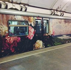 Floral train car / romantic transportation