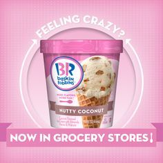 Baskin-Robbins® Ice Cream is Now Available in Grocery Stores! Coconut Pecan, Coconut Ice Cream, Strawberry Ice Cream, Butter Pecan, Strawberries And Cream, Ice Cream Flavors List, Ice Cream Recipes, Chocolate Chip Ice Cream, Chocolate Chip Cookie Dough