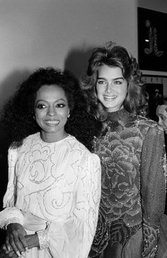 Brooke Shields and Diana Ross  /ブルック・シールズ と ダイアナ・ロス  Rare Photos of Famous People (125 pics)  http://japan.digitaldj-network.com/articles/13481.html