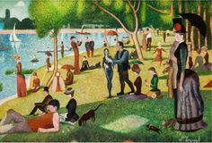 JIM BEAMAN - Afternoon at La Grande Jatte: The Munsters - Playboys Art Galley 1965 - item by fineart.ha #TheMunsters