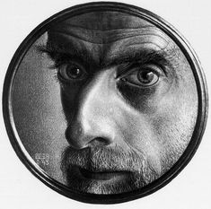 Click to enlarge Mc Escher Art, World Famous Artists, Digital Museum, Vintage Drawing, Illustration, Collaborative Art, Art Database, Mirror Image, Drawings