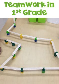 First Grade STEM: After each student built their individual bridges and we…
