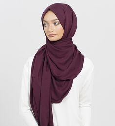Plum Rayon Hijab - €19.66 : Inayah, Islamic Clothing & Fashion, Abayas, Jilbabs, Hijabs, Jalabiyas & Hijab Pins