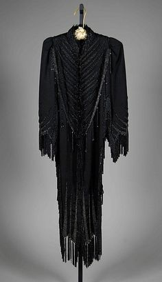 Evening dolman Designer: Emile Pingat (French, active 1860–96) Date: ca. 1885 Culture: French Medium: Silk, jet beads