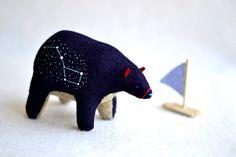 ours en feutrine