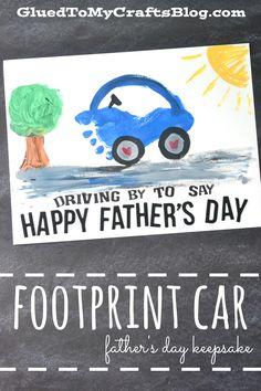 Footprint Car - Father's Day Keepsake Idea - Kid Craft