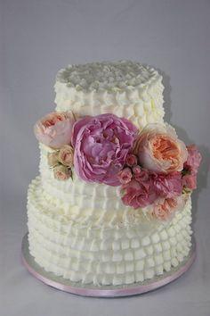 Buttercream Ruffles  Cake by sweetonyou