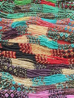 Guatemalan beaded necklaces jewelry from Antigua.
