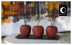 Apple. Terracotta with stem. Multi-layered paint finish. A1361A