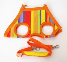 Orange Color Strips Pet sling Dogs Cats Carriers Travel Bag-Medium - http://www.thepuppy.org/orange-color-strips-pet-sling-dogs-cats-carriers-travel-bag-medium/