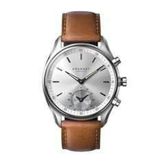 Sekel 43 Steel - Silver, D Brown Leather D Brown, Dark Brown Leather, Rolex Watches, Watches For Men, Watch Sale, Stainless Steel Case, Quartz Watch, Michael Kors Watch, Omega Watch
