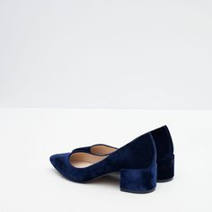 BLOCK HEEL VELVET SHOES-View all-Shoes-WOMAN | ZARA United States