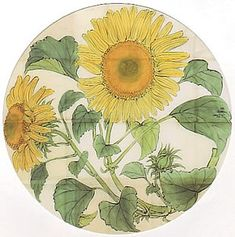 Japanese Art Styles, Japanese Patterns, Japanese Painting, Chinese Painting, Ancient Indian Art, Oriental Flowers, Circle Art, Japan Art, Botanical Art
