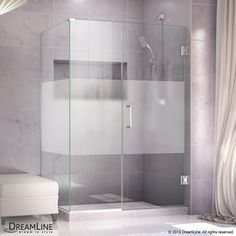 Dreamline Unidoor Plus 49-In To 49-In Frameless Hinged Shower Door She