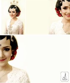 Bride's smile by Adiza photography Indonesian Wedding, Hair Makeup, Wedding Inspiration, Ruffle Blouse, Traditional, Bride, Javanese, Photography, Women