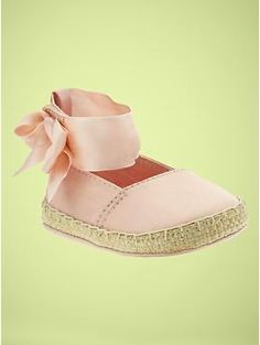 Ankle bow espadrilles from Baby Gap  Love!