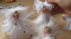 Výroba andělíčka z papírové krajky - YouTube