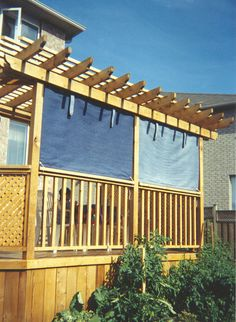 Extra Shade For Pergola We Used 4x8 Woven Reed Fencing