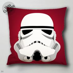 stormtrooper helmet star wars pillow case, cover ( 1 or 2 Side Print With Size 16, 18, 20, 26, 30, 36 inch )