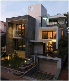Architecture Drawing Discover Modern And Stylish Exterior Design Ideas - Stylendesigns Villa Design, Modern House Design, Modern Houses, Modern House Exteriors, Box House Design, Modern House Plans, Design Hotel, Architecture Design, Facade Design