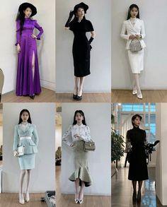 Kpop Fashion Outfits, Ulzzang Fashion, Fashion Dresses, Luna Fashion, Girl Fashion, Dress Design Sketches, Girl Celebrities, Korean Fashion Trends, Fantasy Dress