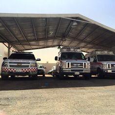 FOTOGRAFÍA DE TU UNIDAD O EQUIPO desde ARABIA SAUDI  Hoy desde las tierras lejanas de #ArabiaSaudi y desde su capital en #Riyadh, el compañero @ems_faisal #paramédico, nos muestra los vehículos que tiene de flota en un día de guardia en su base.....  http://www.ambulanciasyemergencias.co.vu/2015/06/ARABIASAUDI_25.html