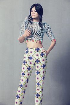 celiab fashion designer #crochet openweave top