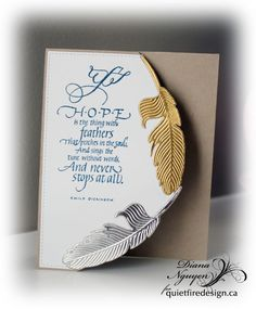 Quietfire Design, Hope is the thing with feathers, feathers, Diana Nguyen