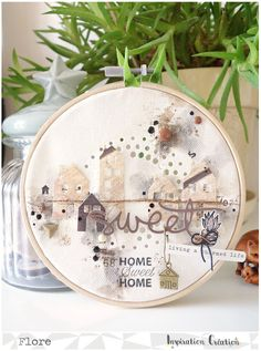 Inspiration Création Blog: Home Déco - Cercle à broder [ par Flore ]
