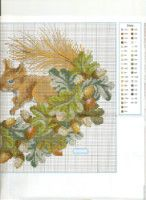 Gallery.ru / Фото #176 - 30a - markisa81 Fall Cross Stitch, Mini Cross Stitch, Cross Stitch Animals, Cross Stitch Embroidery, 5d Diamond Painting, Quilting Designs, Diy And Crafts, Diagram, Map