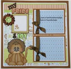 2 photo Premade 12x12 Paper Pieced Scrapbook Page My Pride Joy by Babs | eBay