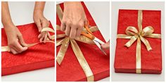 Macy's gift-wrapping expert demonstrates the perfect way to wrap a present.