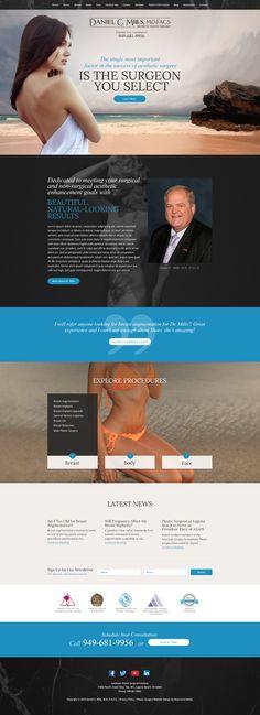 Custom responsive plastic surgery website design