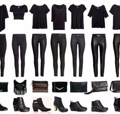 daily black on black looks