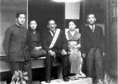 Portrait of the thirty-four-year-old Yasujiro Ozu and his family members gathering together to bid farewell for Ozu who was conscripted into the Imperial Japanese Army, September, He spent two. Yasujiro Ozu, Japanese Film, Nihon, Film Director, Filmmaking, Cinema, Painting, Image, Wowow