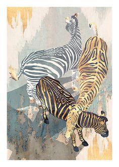 Metallic Zebras Plakat