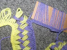 cachecol tricotado em linha