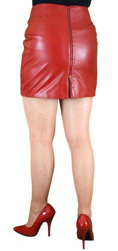 f1f3ebd0dea2 Soft Leather Mini Skirt with Full Rear Zip (4 colours)