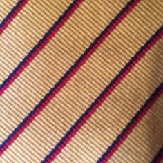 Brooks Brothers Makers Striped Tie Silk Gold Burgundy Blue Preppy Classic USA #BrooksBrothers #Tie